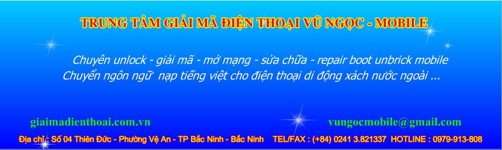 Vũ Ngọc - Mobile Số 04 Đường Thiên Đức - Vệ An - TP Bắc ninh - http://vungoc-bacninh.vn
